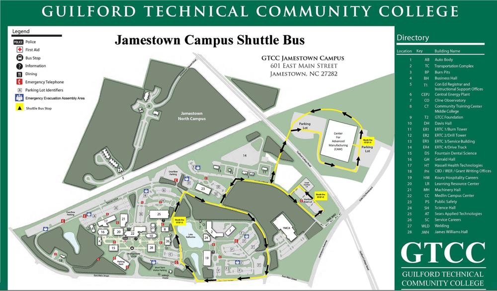 GTCC Jamestown Campus on gcc az, gcc college ma campus map, cloud county community college campus map,