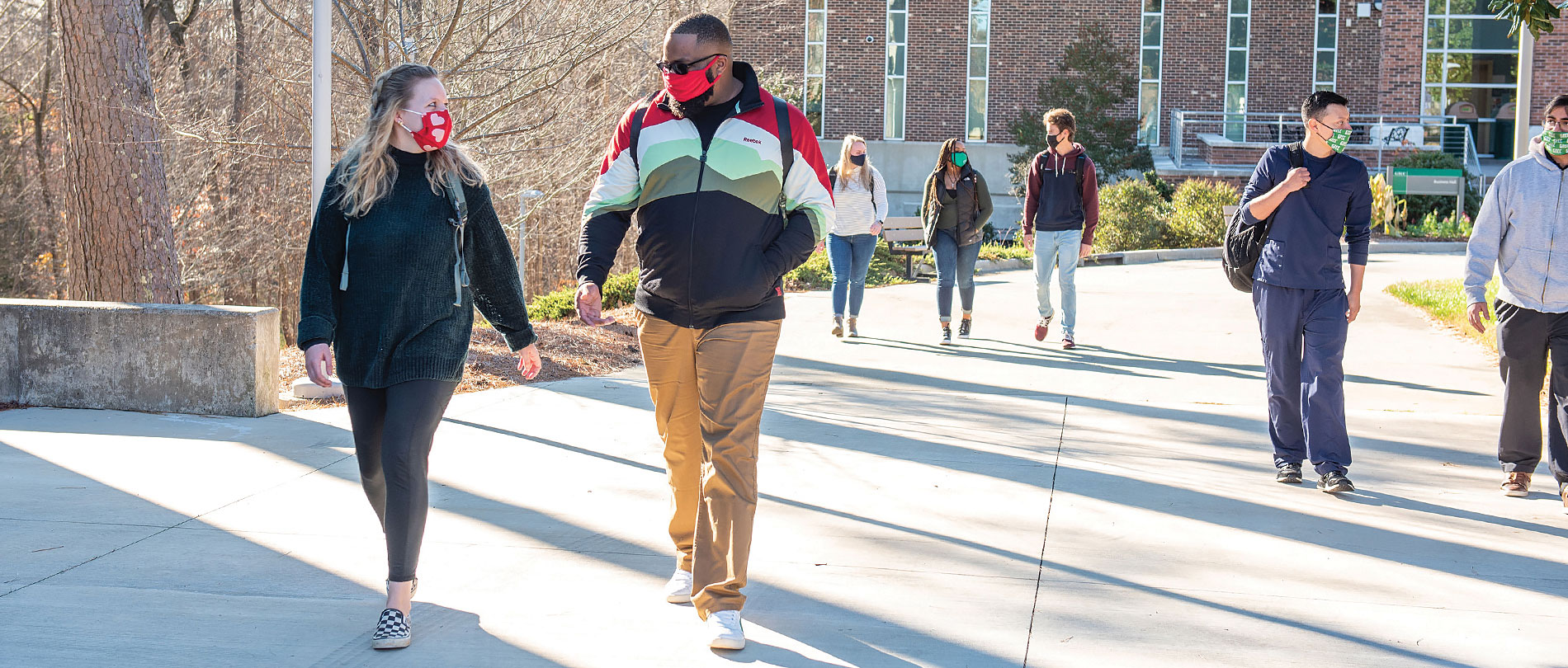 GTCC students walk to class